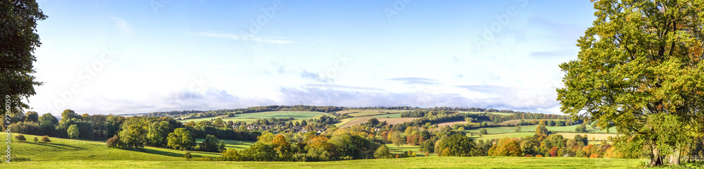 Fototapety, obrazy: Panoramic Cotswold View, Gloucestershire, England