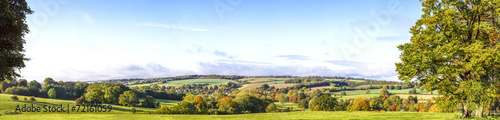 Fotografiet Panoramic Cotswold View, Gloucestershire, England