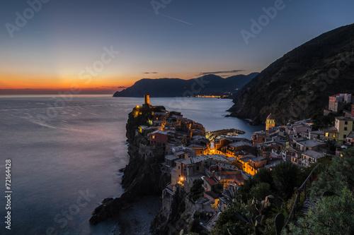 Foto auf AluDibond Ligurien Vernazza Cinque Terre