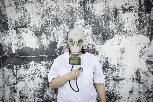 Staande foto Imagination Medicine and gas mask