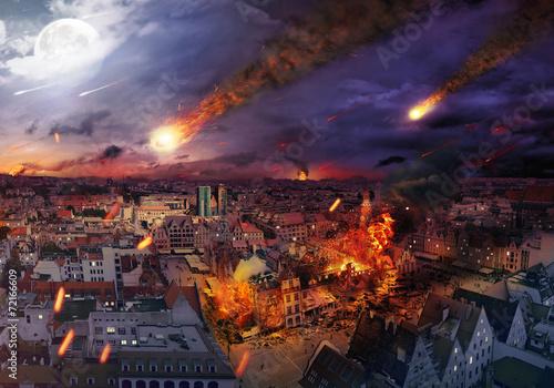 Apocalypse caused by a meteorite Fototapeta