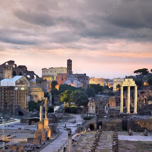 fototapeta na szkło Forum Romanum, Rzym