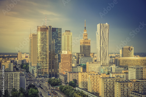 Warsaw financial district in late  afternoon, Poland #72169866