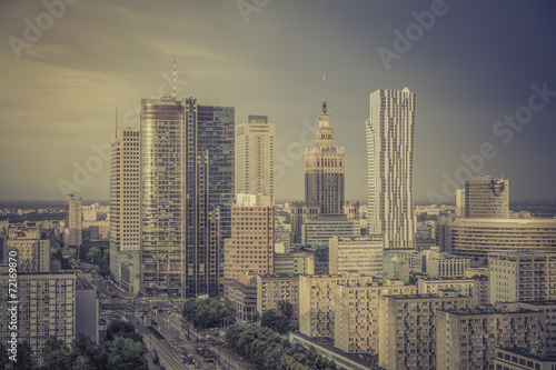 Warsaw financial center in late  afternoon, Poland #72169870