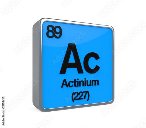 Actinium Element Periodic Table Wallpaper Mural