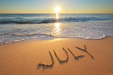 July word on sea