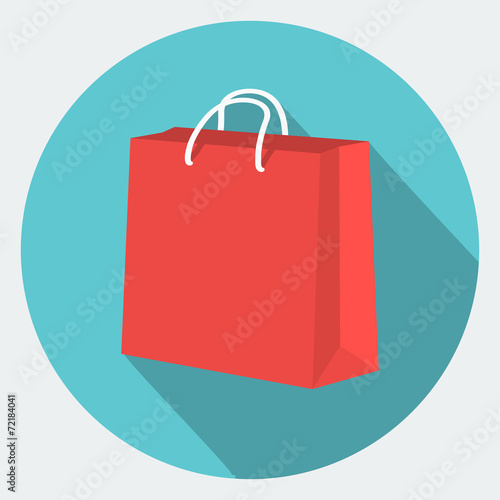 Vector shopping bag Icon Canvas Print