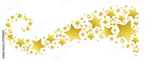 Obraz Banner with Golden Stars - fototapety do salonu