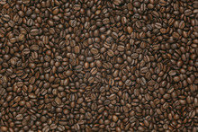 Caffe Edition, Coffee Beans On Old Brown Paper