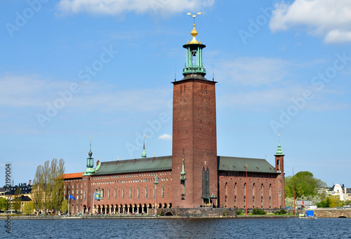 Fotobehang Stockholm City Hall in Stockholm, Sweden, Europe