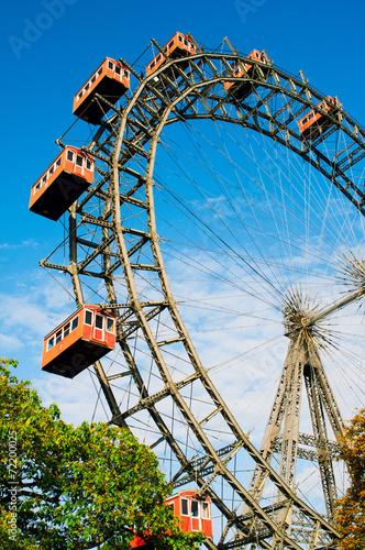 Poster Wenen Giant Ferris Wheel in Prater Park, Vienna