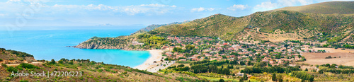 Valokuva Panoramic view of the Mediterranean coast of Sardinia