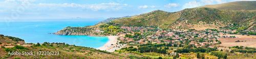Fotografie, Tablou Panoramic view of the Mediterranean coast of Sardinia