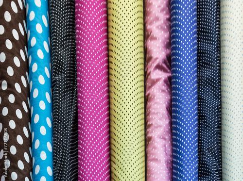 Foto op Aluminium Stof Colorful fabric rolls
