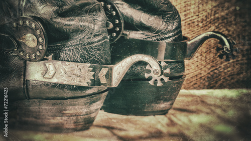 Deurstickers Retro Abstract grungy western backgrounds with cowboy boots