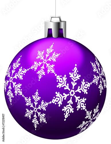 Boule De Noël Violette Avec Motifs Buy This Stock Illustration And