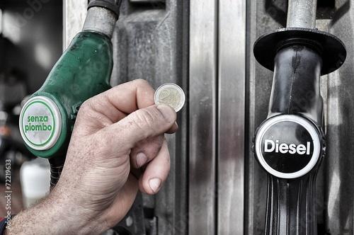 Fotografie, Obraz  Costo del carburante