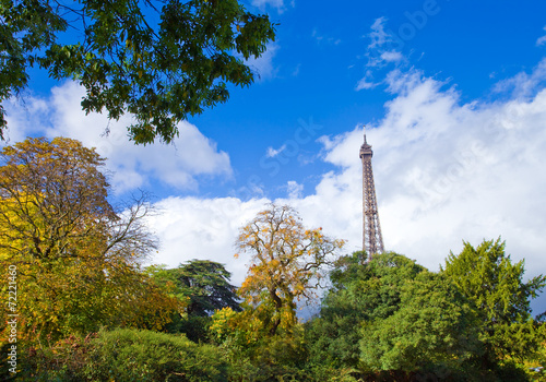 Photo  Jardin public en automne, champ de mars, Paris