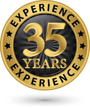 35 Years Experience Gold Label...