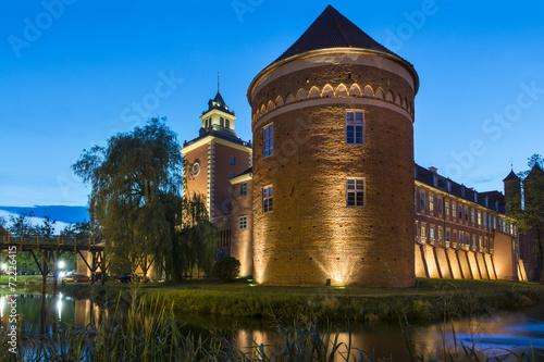 obraz PCV Stare gotyckiego zamku w Lidzbarku Warmińskim, w Polsce, w Europie