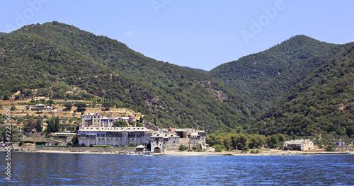 Fotobehang Marokko Xenophontos monastery. Holy Mount Athos.