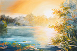 painting - sunset on the lake - 72241812