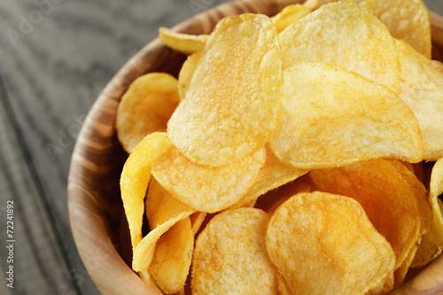 Fotografie, Obraz  potato chips with paprika