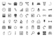 Leinwanddruck Bild - Black icons collection for freelance and business