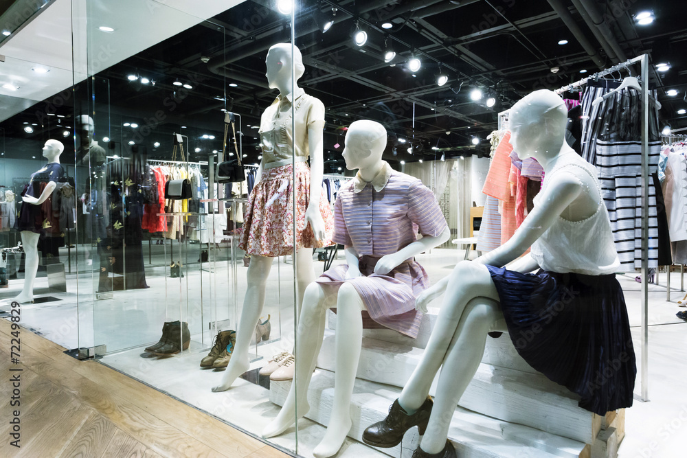 Fototapeta clothing fashion shop exhibition window