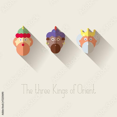 Foto The three Kings of Orient wisemen