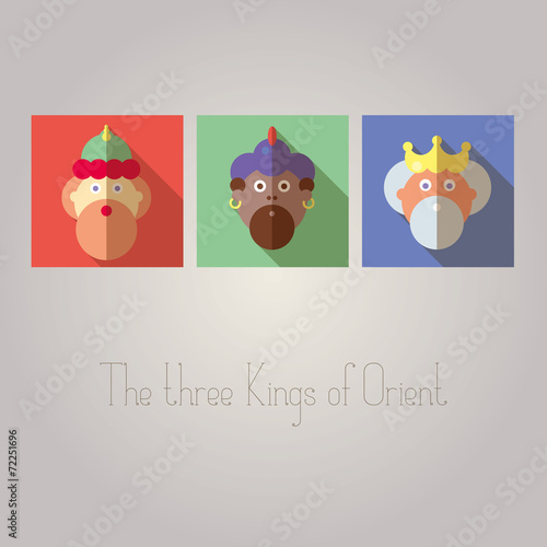 Foto The three Kings of Orient wisemen