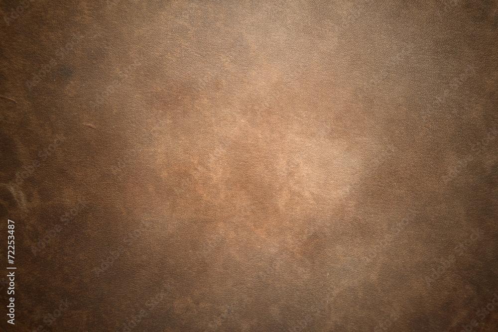 Fototapeta Old vintage brown leather background