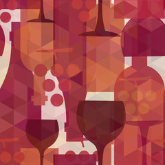 FototapetaWine and drink seamless pattern background