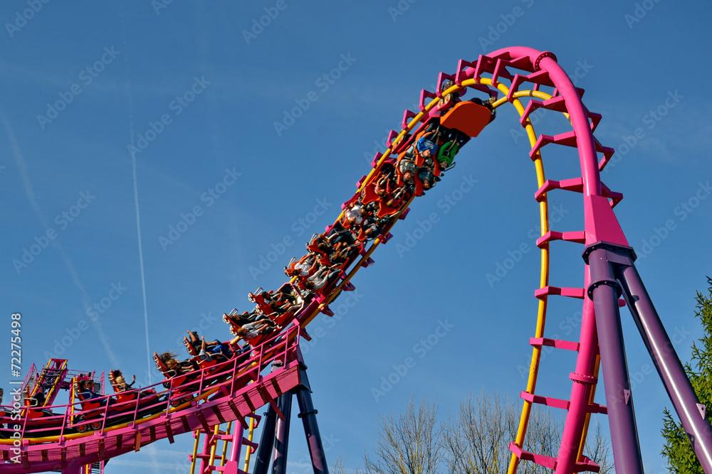 Fototapeta parc d'attraction -le grand huit