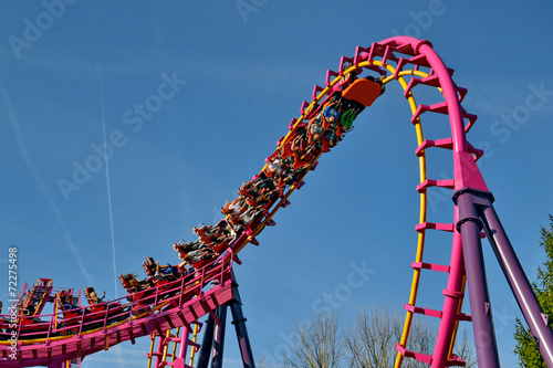 parc d'attraction -le grand huit Fotobehang