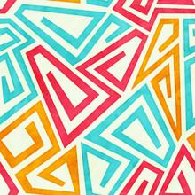Funky Maze Seamless Pattern