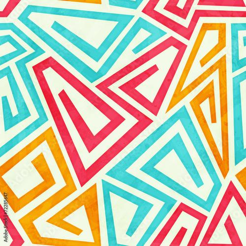 Fotografie, Obraz  funky maze seamless pattern