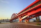 Czerwony most w Kobe - Japonia