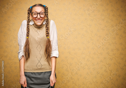 Fotografía Portrait of young female nerd
