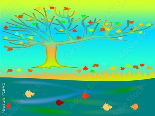 Creative nature landscape