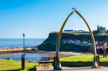 View Of The Whale Bones, Whitby Town Symbol, UK