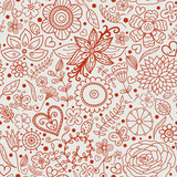 Seamless doodle floral texture