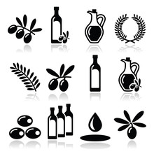 Olive Oil, Olive Branch Icons ...