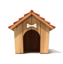 Dog House 3d Illustration