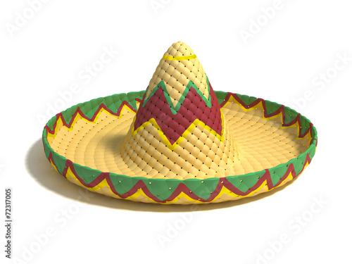 Fotografía  mexican hat sombrero 3d illustration