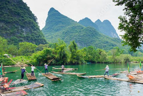 Canvas Prints Guilin Flösser au dem Li-Jiang