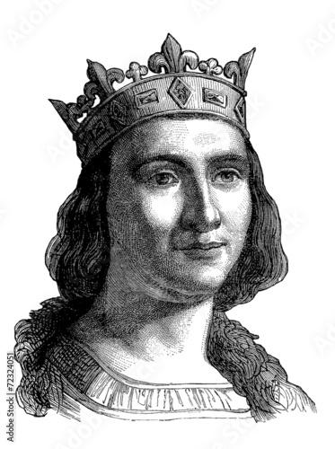 Cuadros en Lienzo French Medieval King : Saint Louis (Louis IX) - 13th century