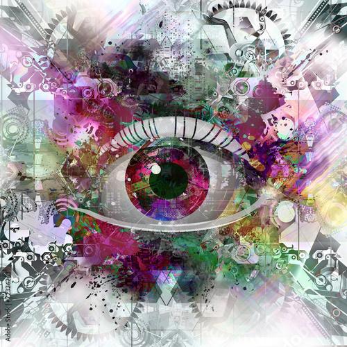 oko-na-kolorowym-tle
