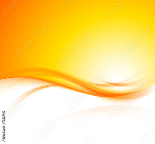 Poster de jardin Abstract wave orange background