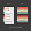 Vector abstract creative business card template. Eps10